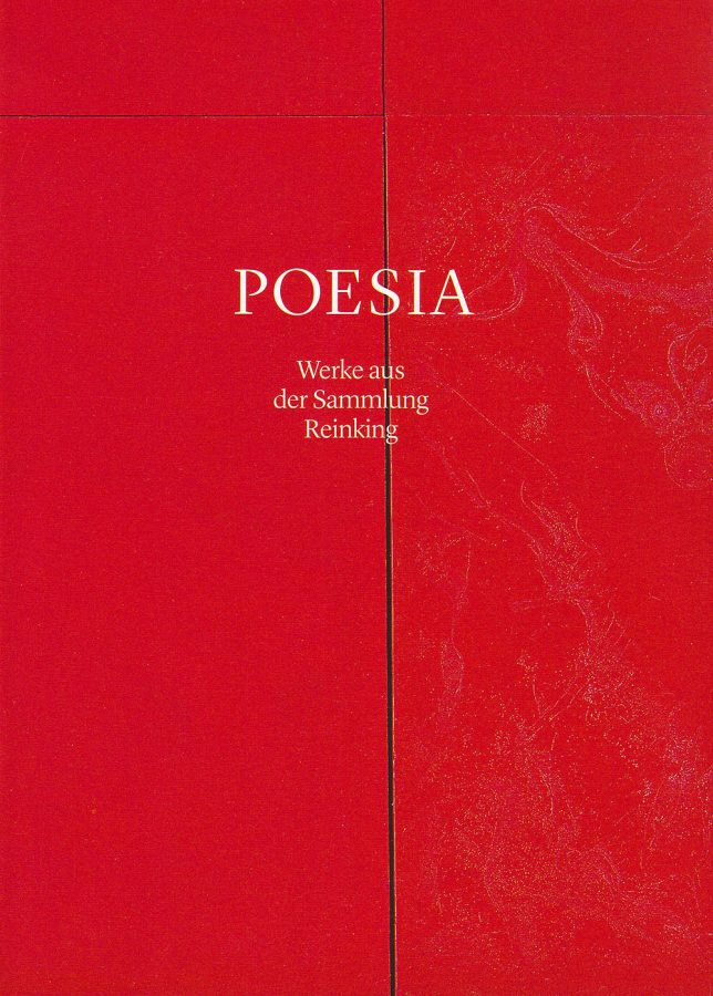 Annett Reckert, Rik Reinking: POESIA – Werke aus der Sammlung Reinking. (In German). 1st ed., Städtische Galerie Delmenhorst, Delmenhorst, Germany (2013). ISBN 978-3-944683-00-3, pp. 174, 186 (exhibition catalogue).